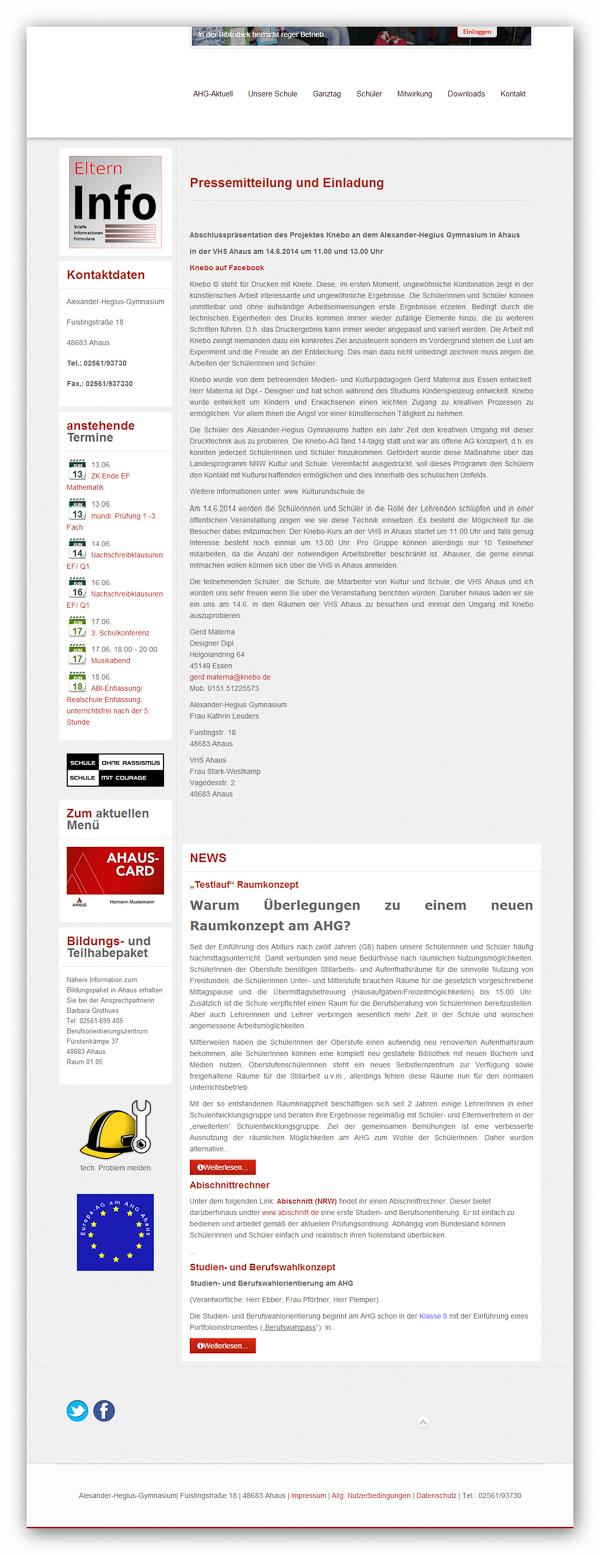 Webseite AHG